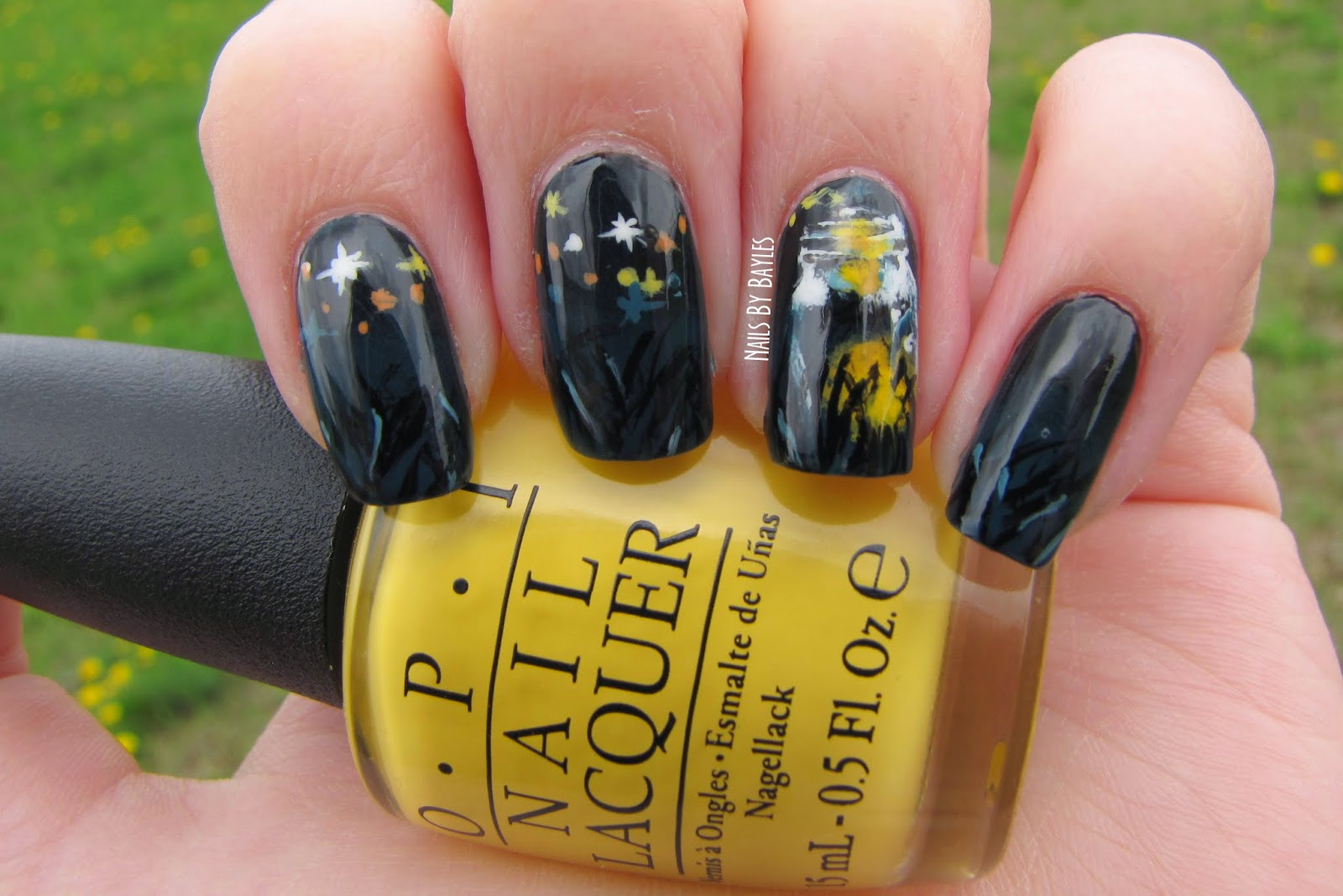 Nails By Bayles: Firefly Nail Art