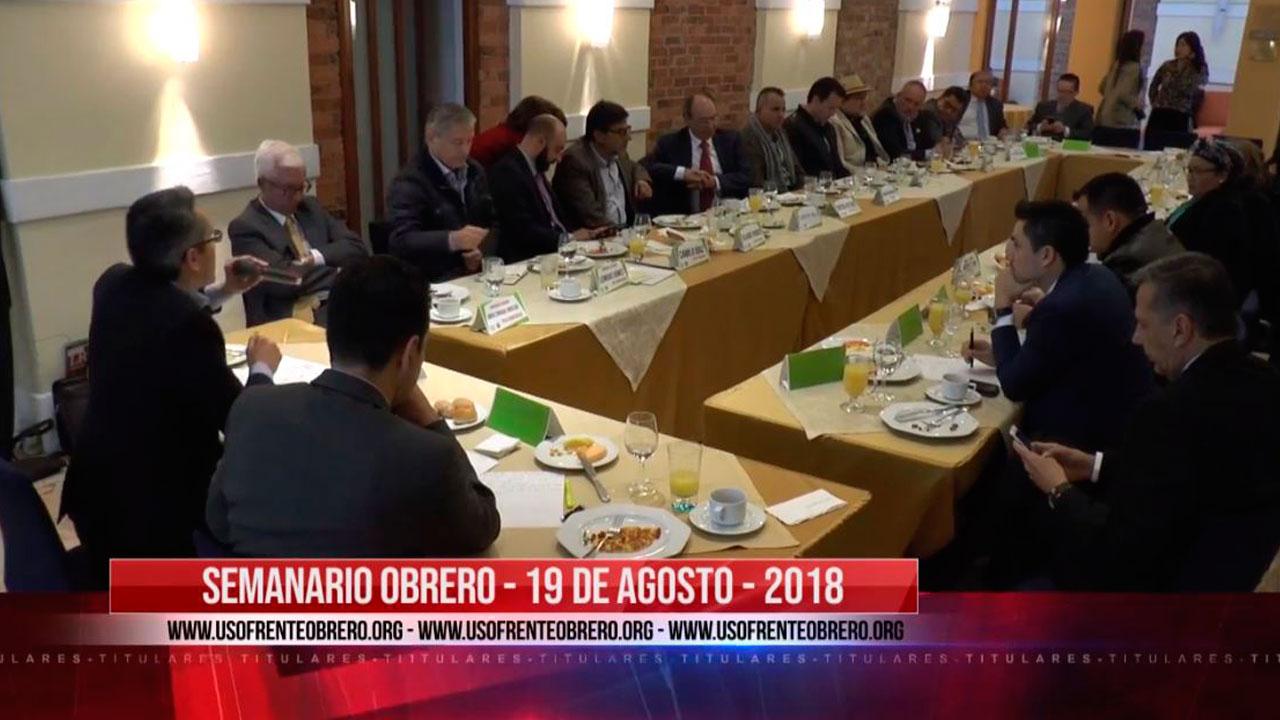 SEMANARIO OBRERO 19 DE AGOSTO - 2018