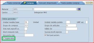 Material sujeto a lote en SAP