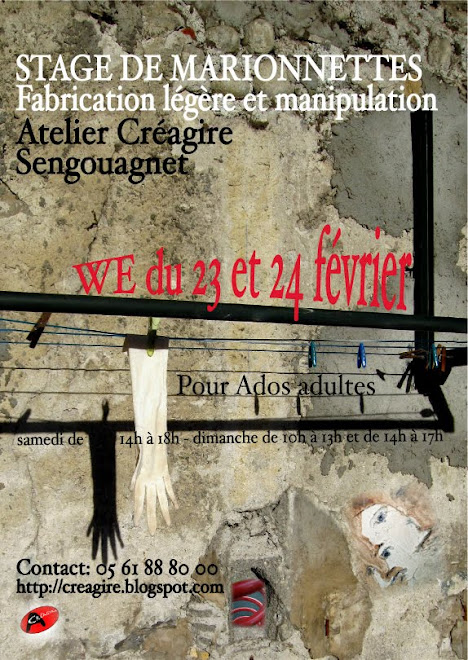 affiche stage marionnettes