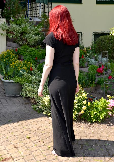 Langes Kleid aus Jersey | Rückenansicht | freinaht.blogspot.com