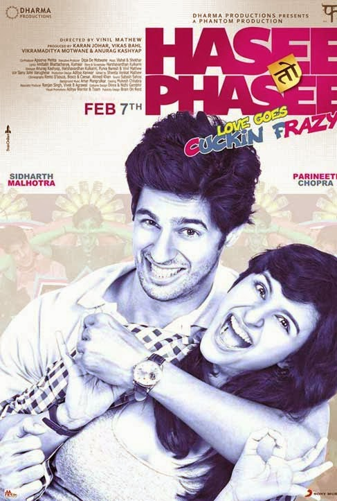 Hasee Toh Phasee First Look Poster - Sidharth Malhotra, Parineeti Chopra