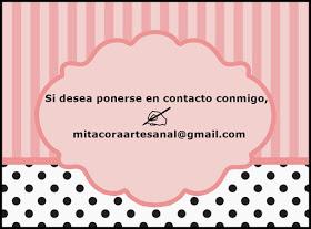 ¿Desearías tener algo realizado por mis manos? escríabame a: mibitacoraartesanal@gmail.com