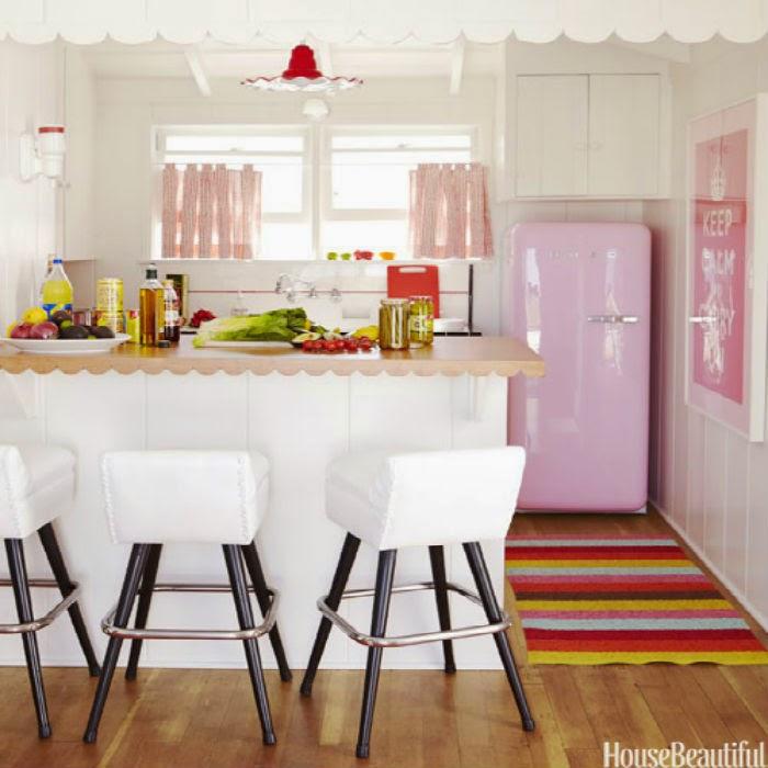 Inspire-se: Cozinhas rosas - Mari Beleza Pura