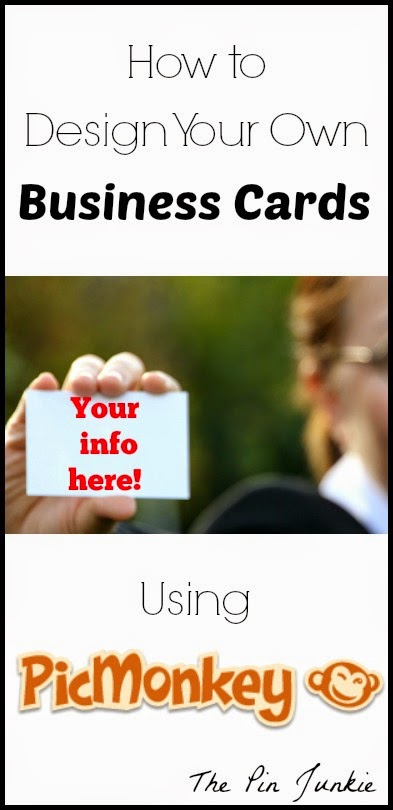 The Pin Junkie How To Make Your Own Business Cards