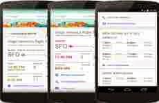 Google Now para Android ahora permite encontrar vuelos alternativos en caso de retraso ó cancelación de un vuelo
