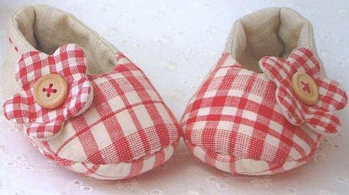Zapatitos de tela para niña hecho a mano ~ Solountip.com