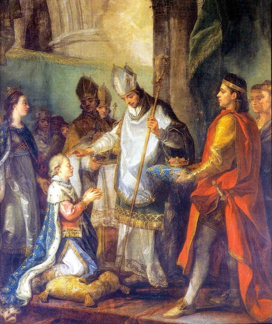Sagração de São Luís IX.  Charles Amédée Philippe van Loo (1719 – 1795)