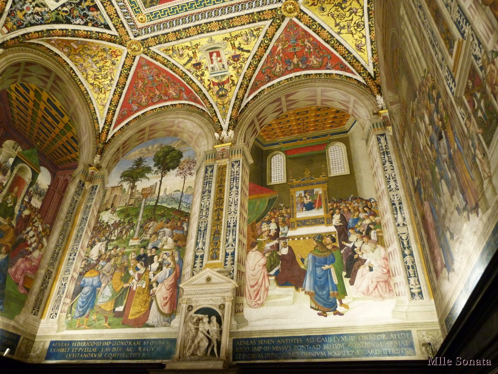 Voyage Italie Sienne Libreria Piccolomini