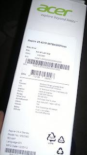 Acer Aspire V5 Specs