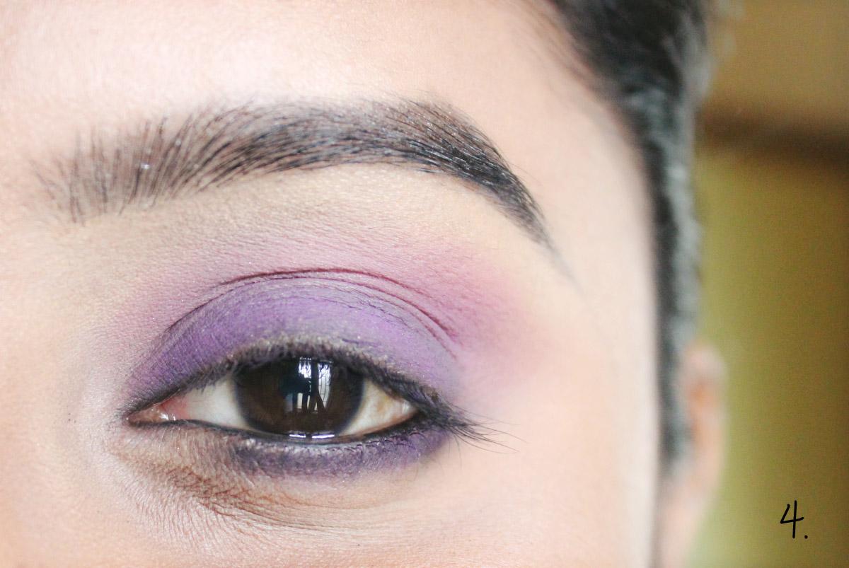 Fácil púrpura Smokey Tutorial Ojo