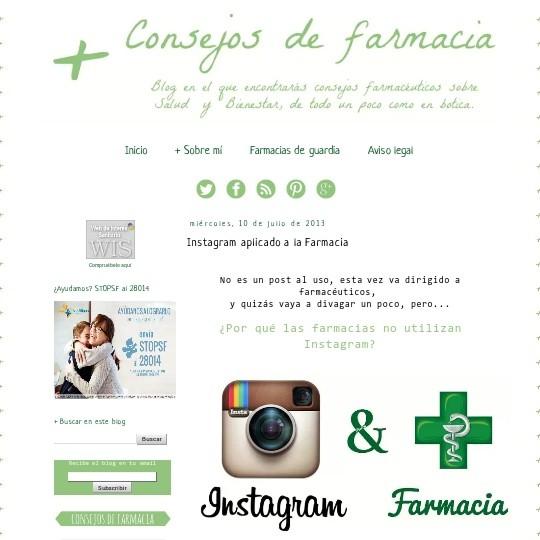 Instagram aplicado a la Farmacia