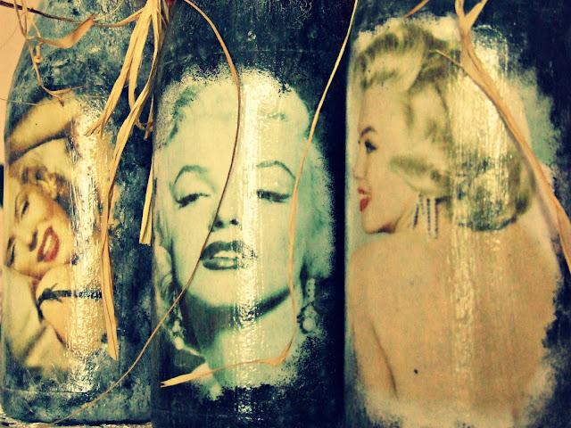 Marylin Monroe wazony decoupage Eco Manufaktura