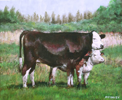 Southampton Bursledon Brickworks two cows field painting
