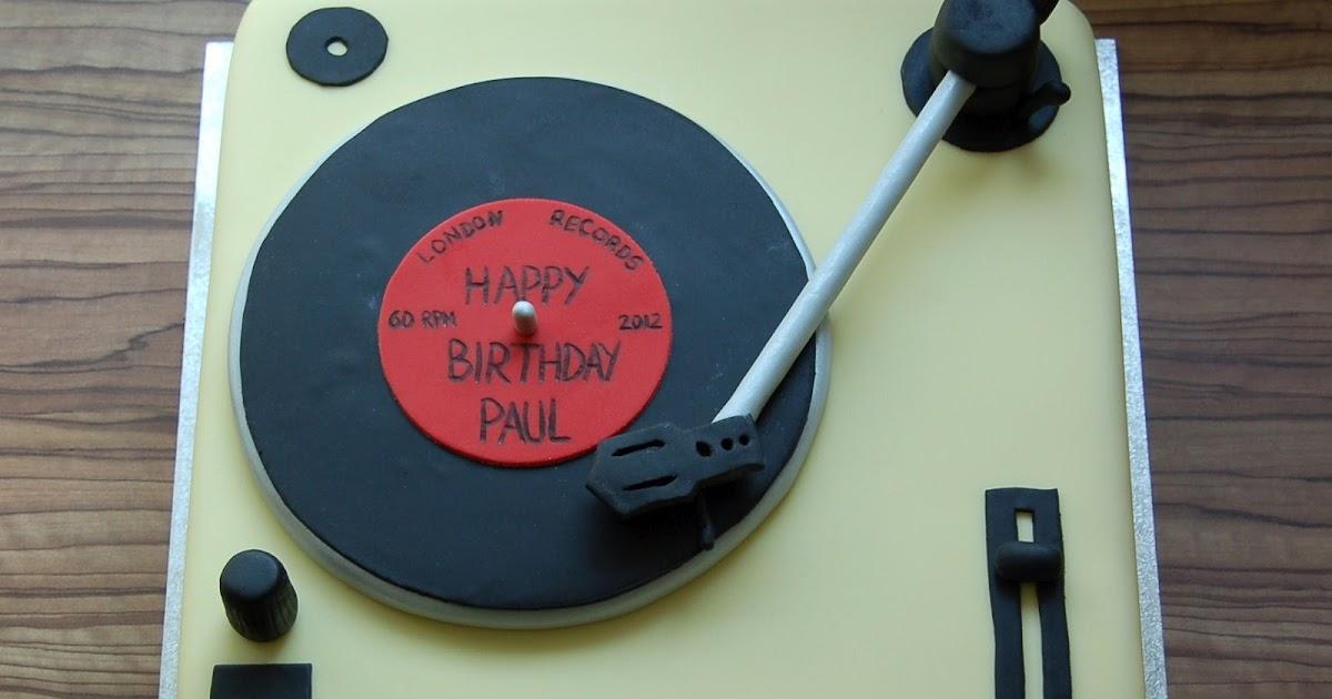 Birthday Cake On Record Deck