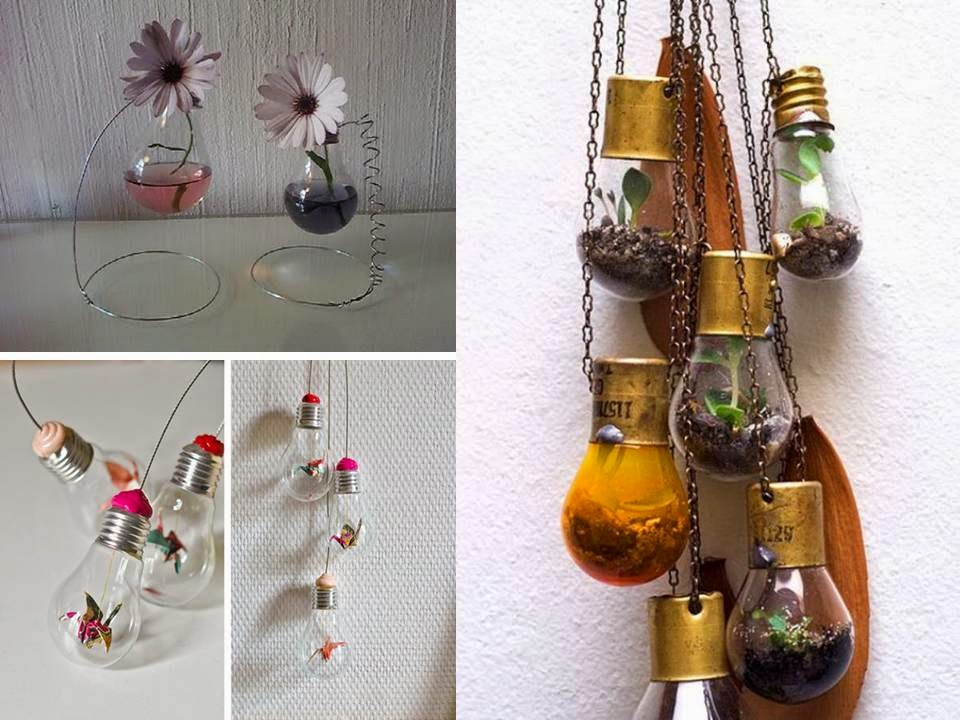 Home decor from waste materials crafts for Handicraft with waste