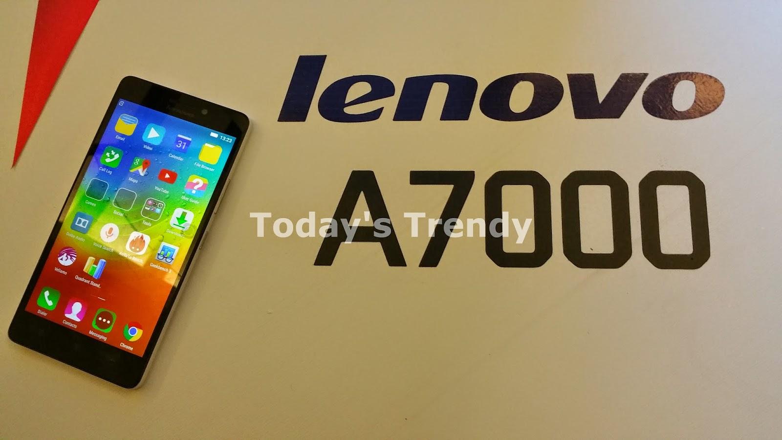 Lenovo A7000 front