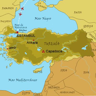 Estambul Turquia mapa