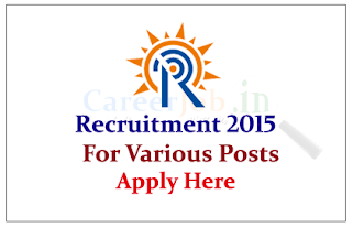 Institute for Plasma Research Recruitment 2015 for the various posts