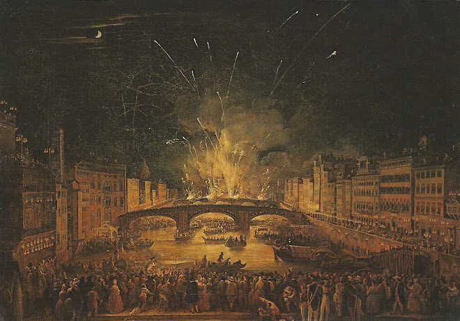 Fireworks from the Ponte Vecchio