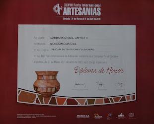 mencion especial feria de artesanias 2010