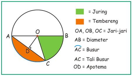 Bagian-bagian lingkaran dan rumus-rumusnya - Rumus MTK