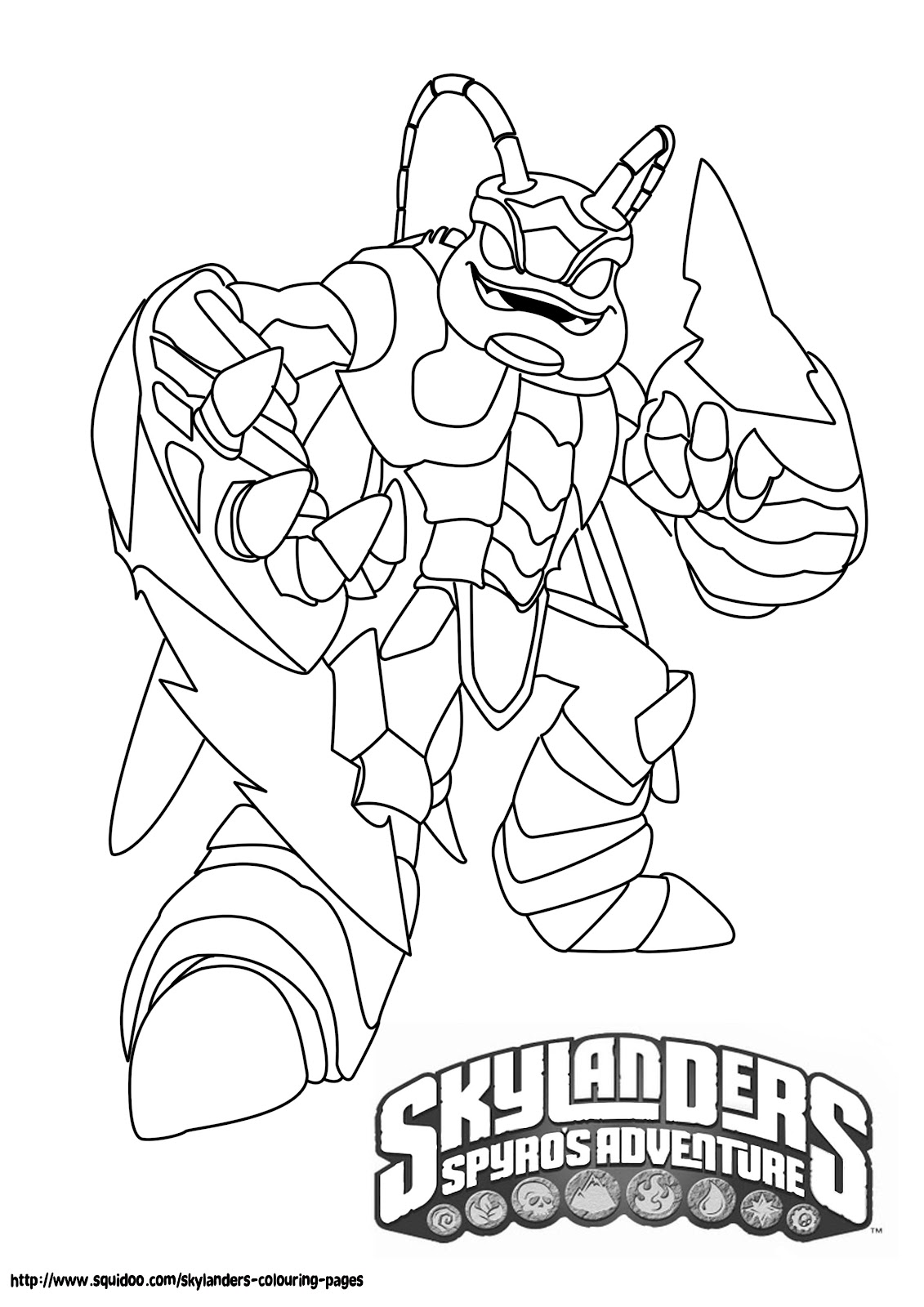 skylanders coloring pages - Skylander Coloring Pages Print
