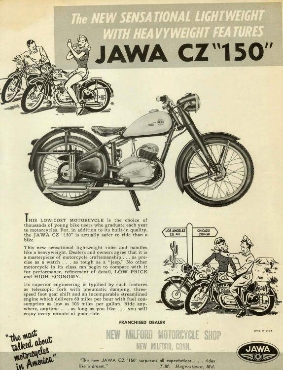 Ulotka reklamowa Jawa z USA