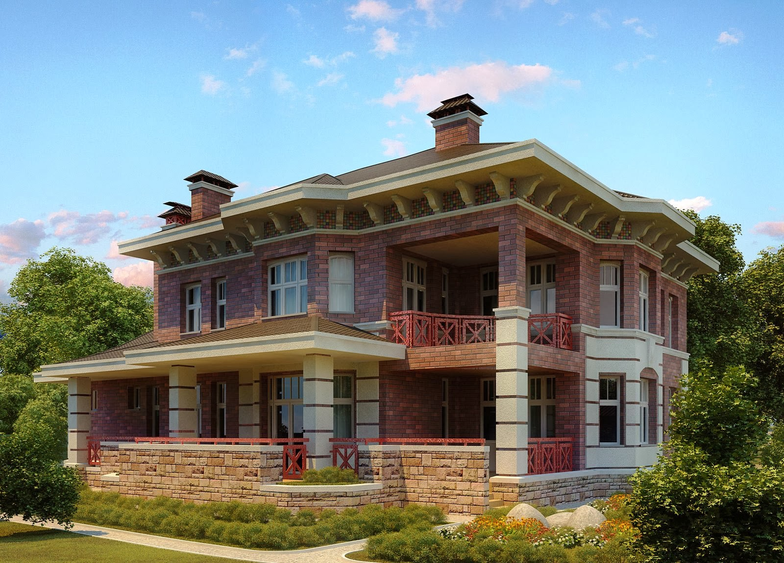 20 amazing 3d house exterior design styles in 2014 for Exterior design styles