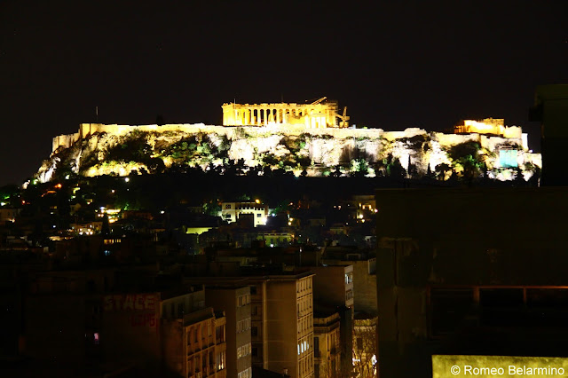 Acropolis View from Air Lounge Bar Fresh Hotel Athens Rooftop Bars