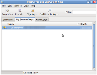 Open the Passwords and Encryption Keys Application