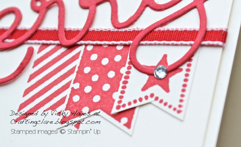 Banner made with Banner Blast a Sale-a-bration freebie from Stampin' Up