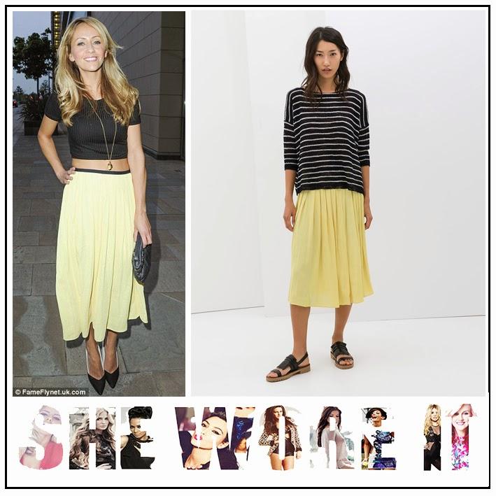 Zara Yellow Skirt Uk 12