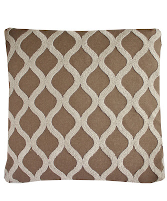 HIGH STREET MARKET LARGE CREWEL TRELLIS PILLOW 24&quot; X 24&quot;