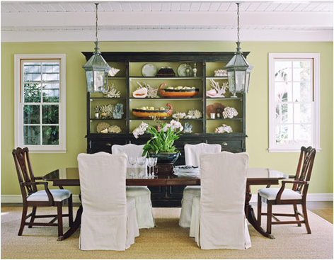 Key interiors by shinay cottage dining room design ideas for Light green dining room