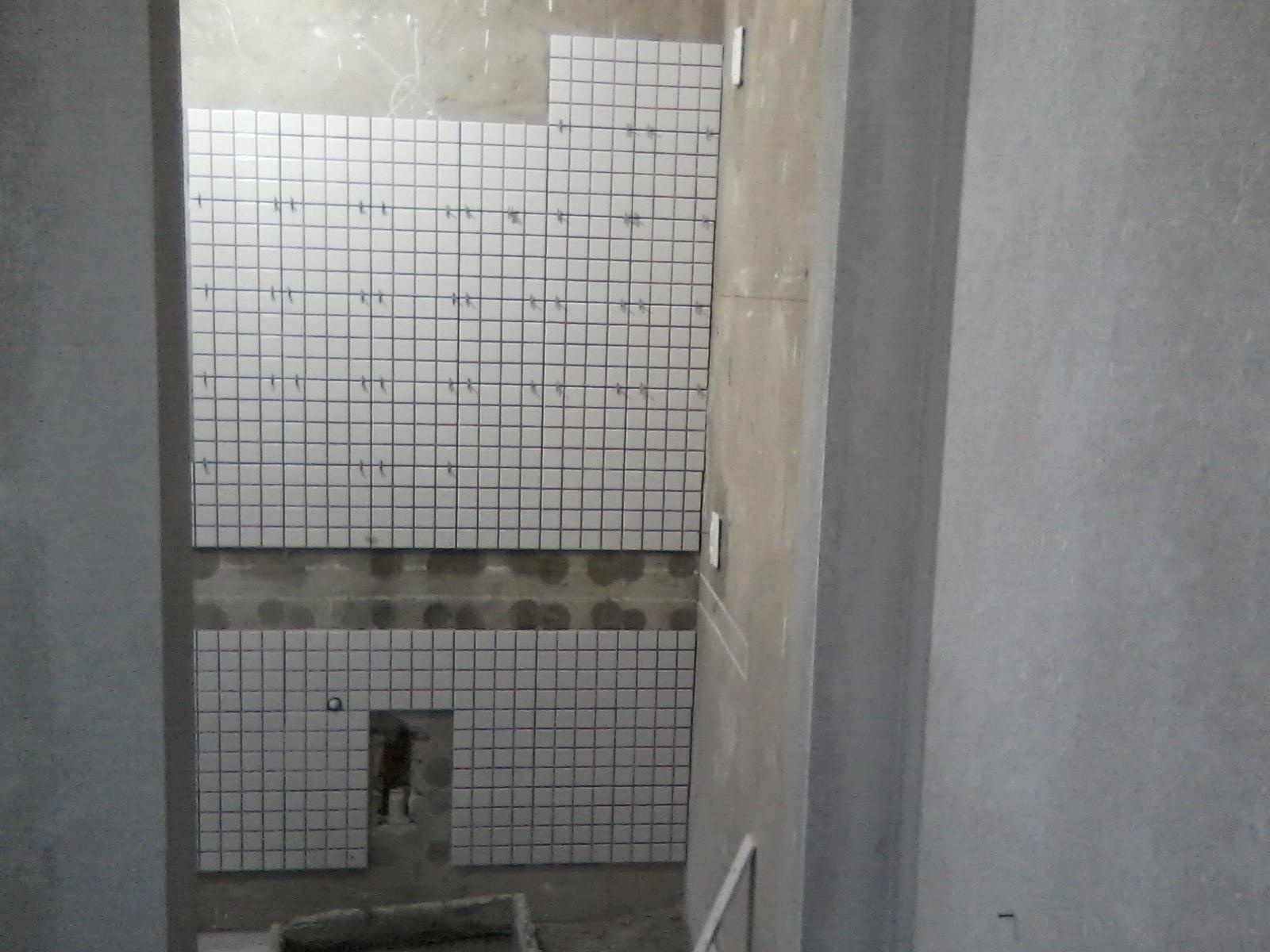 qualificado: inicio de revestimento de paredes do banheiro #6F695C 1600 1200