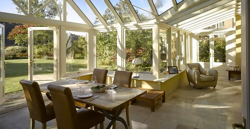 An Interior of a Foxfurd Ltd Conservatory, used as a dining room