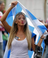 gril supporter in euro 2012 , fantastic