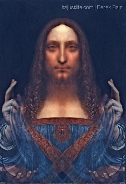 Salvator Mundi (The Savior of the world) by Leonardo da ... Da Vinci Paintings Mirrored