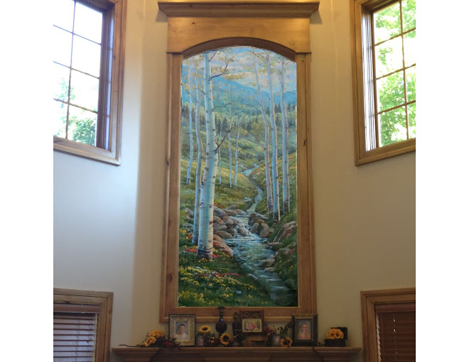 MOUNTAIN HIGH MURAL FOR CLIENTS MARK & LEAH HALL HOME