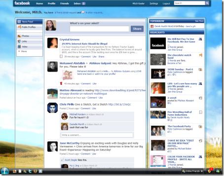ganti tampilan facebook fb