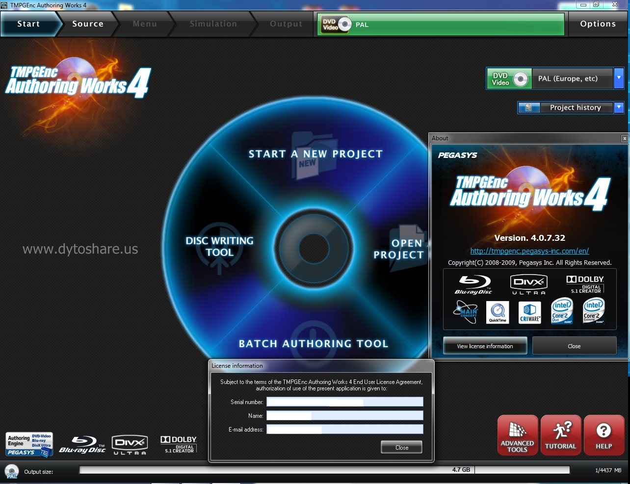MiniTool Partition Wizard Pro Edition 7.5.0.1 Serial [ThumperD 2020 Full Version %5BDS.us%5D+Screen+Shot+-+TMPGEnc+Authoring+Works+4.0.732+(1)