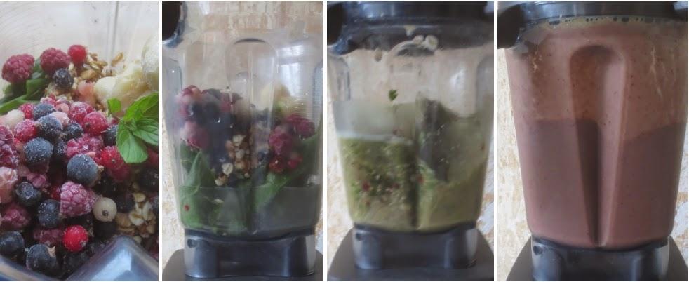 Zubereitung Mangold-Beeren-Kräuter-Smoothie