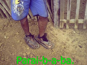 Sandália,bem rústica.(A havaianas,do cariri)