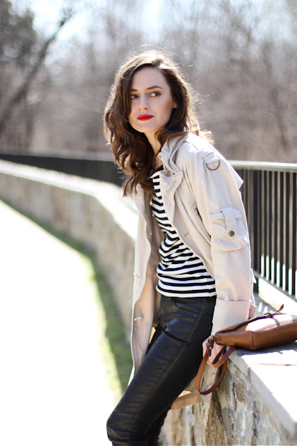Red Lips with Cool Jacket