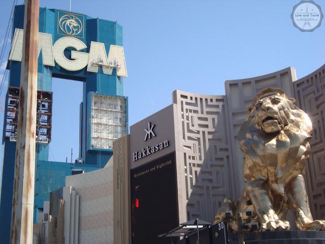 Fachado do hotel MGM Grand em Las Vegas