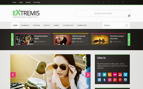 Template Extremis Para Blog de Noticias