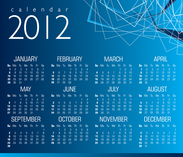Template Kalender 2012 GRATIS SIAP DOWNLOAD