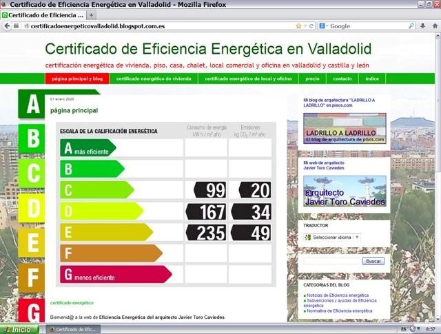 Mi nueva web de eficiencia energ tica javier toro - Arquitectos en valladolid ...