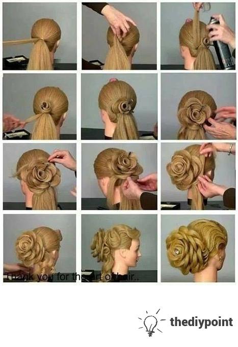 Back Bun Hair Style Diys